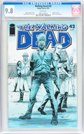 Modern Age (1980-Present):Horror, Walking Dead #42 (Image, 2007) CGC NM/MT 9.8 White pages....