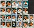 Baseball Cards:Autographs, New York Yankees Greats Signed Cards Lot of 22....