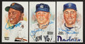 Baseball Collectibles:Others, Willie Mays, Mickey Mantle and Duke Snider Signed Perez SteelePostcards Lot of 3....