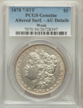 Morgan Dollars, 1878 7/8TF $1 Weak -- Altered Surface -- PCGS Genuine. AU Details.NGC Census: (0/0). PCGS Population (9/2759). Mintage: 54...