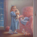 Mainstream Illustration, MABEL ROLLINS HARRIS (American, 20th Century). Puppies andKittens. Pastel on canvas. 27.25 x 28.25 in. (image). Signed...