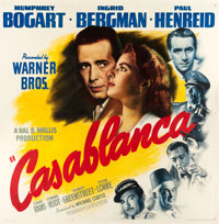 "Casablanca (Warner Brothers, 1942). Six Sheet (81"" X 81"")"