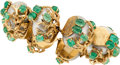 Estate Jewelry:Bracelets, Emerald, Shell, Gold Bracelet, Seaman Schepps. ...
