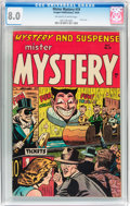 Golden Age (1938-1955):Horror, Mister Mystery #19 (Aragon, 1954) CGC VF 8.0 Off-white to whitepages....