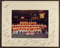 Baseball Collectibles:Photos, 1981 Houston Astros Team Signed Oversized Photograph Display....