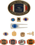 Football Collectibles:Others, 1970's - 90's NFLPA Pins, Jewelry, etc. Lot of 13....