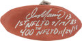 Football Collectibles:Balls, Dan Marino Signed and Inscribed Leather Wilson NFL Football....