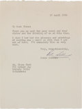 Movie/TV Memorabilia:Autographs and Signed Items, A Glenn Ford-Received Signed Letter from Peter Sellers, 1964....