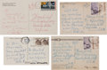 Movie/TV Memorabilia:Autographs and Signed Items, A Glenn Ford-Received Group of Handwritten Postcards from Rita Hayworth, Circa 1960s-1970s.... (Total: 4 Items)