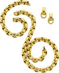 Estate Jewelry:Suites, Gold Jewelry Suite, Paloma Picasso for Tiffany & Co.. ...