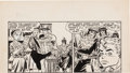 Original Comic Art:Panel Pages, Carmine Infantino Flash Comics Unpublished Partial Page Original Art (DC, 1940s)....