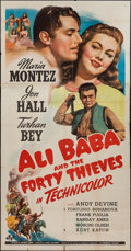 "Movie Posters:Fantasy, Ali Baba and the Forty Thieves (Universal, 1944). Three Sheet (41"" X 81""). Fantasy.. ..."