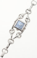 Luxury Accessories:Accessories, Gucci Stainless Steel Signoria Bracelet Watch with Mother of Pearl Face. ...