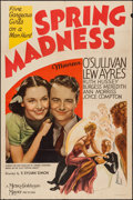 "Movie Posters:Comedy, Spring Madness (MGM, 1938). One Sheet (27"" X 41""). Comedy.. ..."