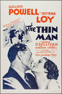 "The Thin Man (MGM, R-1962). One Sheet (27"" X 41""). Mystery"