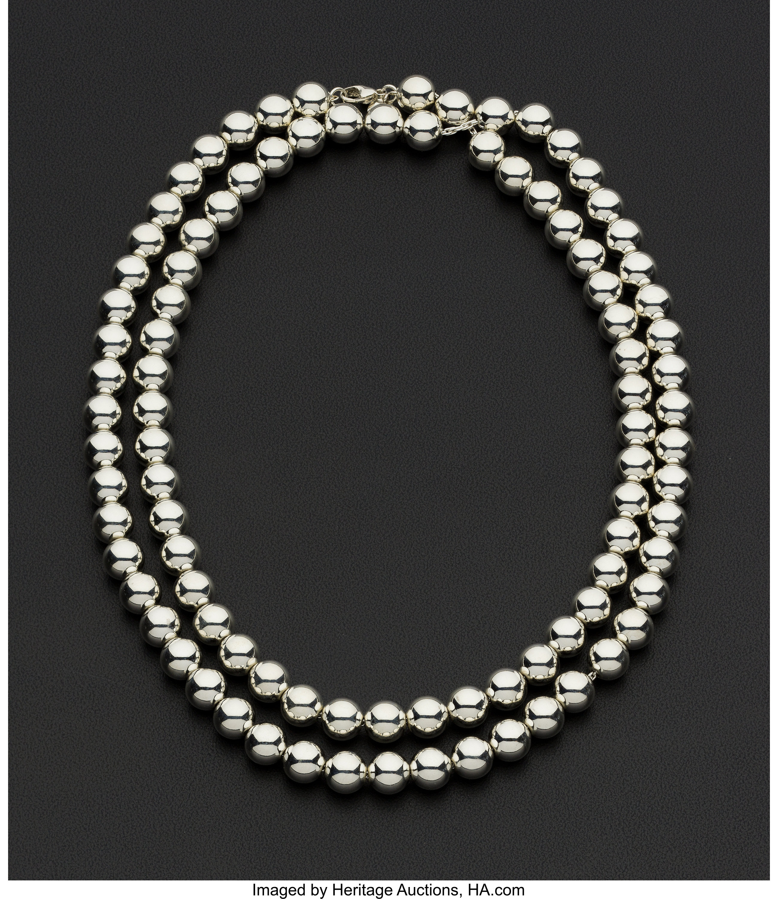 Tiffany Co Sterling Silver Bead Necklace Estate Jewelry Lot 73025 Heritage Auctions