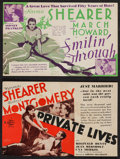 "Movie Posters:Romance, Smilin' Through & Others Lot (MGM, 1932). Heralds (4)(5.5"" X 8.5"" & 8.5"" X 10""). Romance.. ... (Total: 4 Items)"