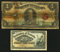 Canadian Currency: , A Shinplaster and a King George V $1.. ... (Total: 2 notes)
