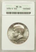 Kennedy Half Dollars: , 1976-S 50C Silver MS64 ANACS. NGC Census: (72/887). PCGS Population(116/3199). Mintage: 11,000,000. Numismedia Wsl. Price ...