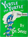 Books:Children's Books, Dr. Seuss. Yertle the Turtle and Other Stories. RandomHouse, 1958. Early impression in later dj. Light rubbing and ...