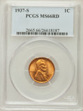 Lincoln Cents: , 1937-S 1C MS66 Red PCGS. PCGS Population (1191/155). NGC Census:(705/374). Mintage: 34,500,000. Numismedia Wsl. Price for ...