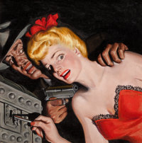 RAFAEL DESOTO (American, 1904-1992) Cry Murder!, Flynn's Detective Fiction, pulp cover, July 1944 Oi
