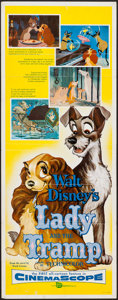 "Movie Posters:Animation, Lady and the Tramp (Buena Vista, 1955). Insert (14"" X 36""). Animation.. ..."