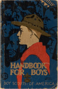 Books:Americana & American History, [Boy Scouts of America]. Handbook for Boys. Boy Scouts ofAmerica, 1939. 31st printing. Publisher's decorated wrappe...