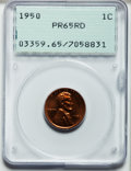 Proof Lincoln Cents: , 1950 1C PR65 Red PCGS. PCGS Population (490/326). NGC Census:(210/291). Mintage: 51,386. Numismedia Wsl. Price for problem...