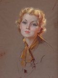 Pin-up and Glamour Art, BRADSHAW CRANDELL (American, 1896-1966). Ariana, Gerlach-Barklowcalendar illustration, 1936. Pastel on paper laid on bo...