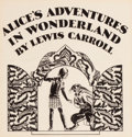 Mainstream Illustration, WILLY POGANY (Hungarian/American, 1882-1955). Alice's Adventuresin Wonderland, hardcover, 1929. Pen and ink on paper. 6...