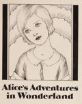 Mainstream Illustration, WILLY POGANY (Hungarian/American, 1882-1955). Alice's Adventuresin Wonderland, half title page, 1929. Pen and ink on pa...