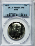 SMS Kennedy Half Dollars: , 1965 50C SMS MS66 Cameo PCGS. PCGS Population (285/157). NGCCensus: (296/245). Numismedia Wsl. Price for problem free NGC...