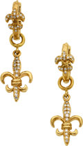 Estate Jewelry:Earrings, Diamond, Gold Earrings, Loree Rodkin. ...