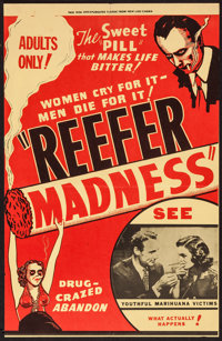 """Reefer Madness (Motion Picture Ventures, R-1972). Special Poster (13"""" X 20""""). Exploitation"""
