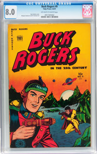 Buck Rogers #9 (Toby Publishing, 1951) CGC VF 8.0 Off-white to white pages