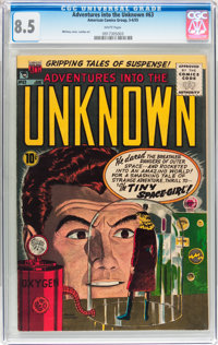 Adventures Into The Unknown #63 (ACG, 1955) CGC VF+ 8.5 White pages