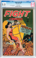 Golden Age (1938-1955):War, Fight Comics #46 (Fiction House, 1946) CGC VF 8.0 Off-whitepages....