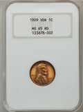 Lincoln Cents: , 1909 VDB 1C MS65 Red NGC. NGC Census: (3177/1555). PCGS Population(5019/2249). Mintage: 27,995,000. Numismedia Wsl. Price ...