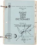 Explorers:Space Exploration, Apollo 13 Training-Used Apollo XIII LM-7 Flight Crew G&N Dictionary Book Directly from the Personal Collection of ...