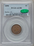 Indian Cents, 1890 1C AU58 PCGS. CAC. PCGS Population (22/87). NGC Census:(8/177). Mintage: 57,182,856. Numismedia Wsl. Price for proble...