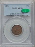 Indian Cents, 1894 1C AU58 PCGS. CAC. PCGS Population (36/111). NGC Census:(16/213). Mintage: 16,752,132. Numismedia Wsl. Price for prob...