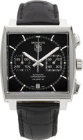 Timepieces:Wristwatch, Tag Heuer Monaco Steel Automatic Chronograph. ...