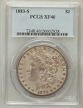 Morgan Dollars: , 1883-S $1 XF40 PCGS. PCGS Population (88/5067). NGC Census:(63/4355). Mintage: 6,250,000. Numismedia Wsl. Price for proble...