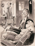 """Pin-up and Glamour Art, JACK COLE (American, 1914-1958). """"See, I Told You What He'd Dothe First Thing He Comes In!"""", Humorama cartoon illustratio..."""