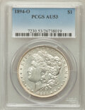 Morgan Dollars: , 1894-O $1 AU53 PCGS. PCGS Population (379/2200). NGC Census:(376/2208). Mintage: 1,723,000. Numismedia Wsl. Price for prob...
