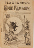 Books:Americana & American History, [Almanac]. F. L. & W. E. Whittier's Comic Almanac, 1888.Whittier, 1887. Publisher's wrappers with chipping and ...