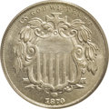 Shield Nickels: , 1870 5C MS66 PCGS. An important condition scarcity in the Shieldnickel series, a mere ten Premium Gem business strikes hav...
