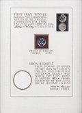 """Felix Schlag Autograph Series 1938 Proof Nickel. An 8"""" x 12"""" Schlag-autographed card notarized by Paul Wagner..."""