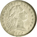 Early Half Dimes: , 1794 H10C --Cleaned--ANACS. XF40 Details. V-4, LM-4, R.4. Thisivory-gray Flowing Hair half dime displays substantial satin ...